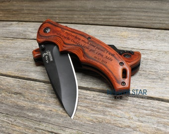 Fathers day gift, Personalized Knife, Father Daughter gift, Pocket Knife, Engraved Knife, Husband gift, Gift for Dad, Gifts for Him, Custom