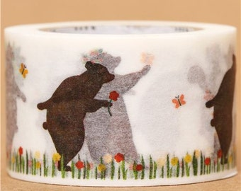 174353 wide bear spring mt Washi Masking Tape deco tape