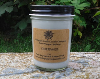 Halloween Candle CIDER WEB 8 oz Pure Soy Candle