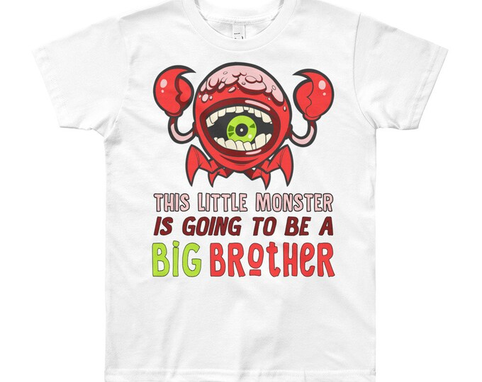 This little monster is going to be a Big brother T-Shirt, pregnancy announcement, big brother, little monster, siblings