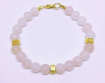 Rose Quartz Semi-Precious Stone Bracelet