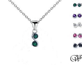 Infinite agate necklace onyx black mini, infinite minimalist pendant, infinite love, amethyst, emerald, agate,