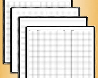 Notes dot/grid/lines/cornell, #E-N (standard inserts, standard travelers notebook insert, standard tn inserts, standard printable)
