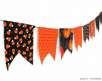 Halloween Bunting Banner, Candy Corn Bunting, Pumpkin Bunting Banner,Halloween Photography Prop,Halloween Party Decorations,Halloween Banner