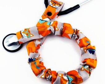 Stethoscope Cover for Removable Chest Pieces, Medical Student, Nurse, Stethoscope Accessories, Foxes Wearing Bandanas, Glasses, and Hats