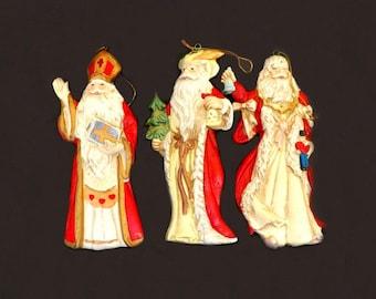 Vintage Christmas Ornament Set, Three Kings, Nativity Ornaments, Christmas Decor, Holiday Ornaments, Holiday Ornament, Navitity Set