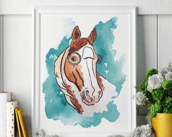 Horse - Horse Painting - Horse Art - Horse Painting - Horse Print - Horse Fine Art Print