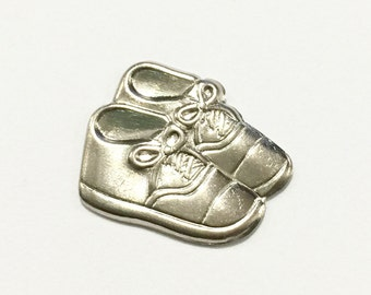 Metal Baby Booties Embellishment (12 pcs)