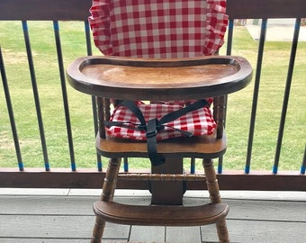 High Chair Cover. High Chair Pad. Highchair Cover. High Chair Cushion.  Wooden High Chair Pad.highchair Cushion. Highchair Pad, Vintage