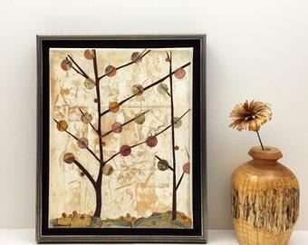 Home Decor - Framed Tree Art - Original- 8 x 10 - Canvas Art - Tree - Wall Art - Gift - Landscape - Contemporary Art