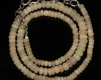 Ethiopian welo opal necklace 57Cts - valentine gift for women - gift for her