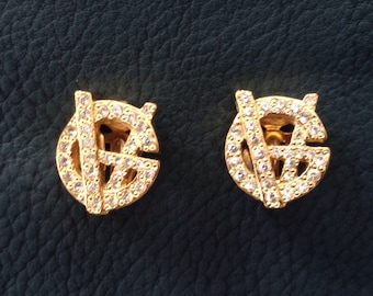 Original Gianni Versace Clip earrings/Earrings