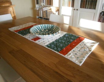 table runner or Dresser, made patchwork hand for Christmas or all year round