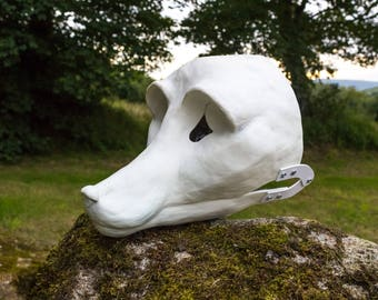 Fox / small cainine fursuit head resin base blank with moving jaw