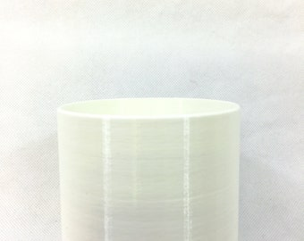 """4"""" 3D-Printed Cylindrical White Pot/Planter, Modern and Minimalist, Elegant Indoor Planter, Sustainable, Custom-Made, for House Live Plants"""