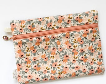 Rectangle Pouch Pencil Case // Rosa in Peach by Rifle Paper Co.