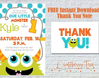 Our Little Monster- 1st Birthday Invitation
