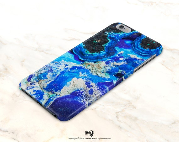 Marble iPhone 6 Case Marble iPhone 7 Case, Blue Mineral iPhone 6S case, TOUGH iPhone 6 Plus, TOUGH iPhone 6S Plus Case Maatte LG G3 Case