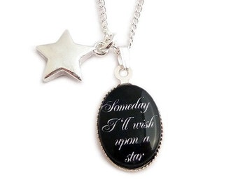 Wizard of Oz necklace Someday I'll wish upon a star charm
