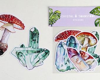 Crystal & Toadstool Sticker Set