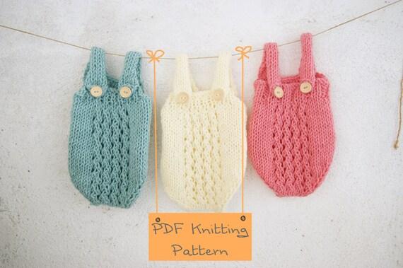 121 Pdf Knitting Pattern Baby Romper Newborn Knitting