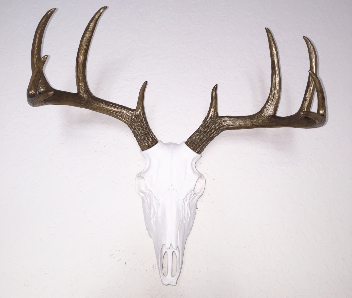 Any Color Faux Deer Skull Wall Mount Bronze Amp White Faux