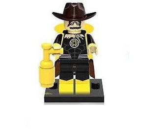 SCARECROW Yellow Lantern version Custom Minifigure 100% Lego Compatible! DC Comics Batmantom Minif