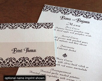 Bianca Menu, Table Marker & Place Card Set