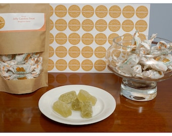 Greek Traditional Jelly Candies Treat, Bergamot Flavor From Athens 1500gr ( 52.91oz )