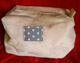 make up in pink fleece