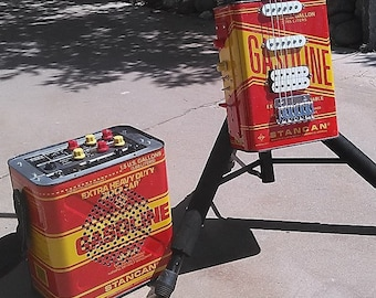 Gas Can Guitar and Amp set