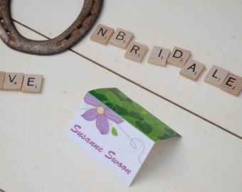 Purple Flower Place Card