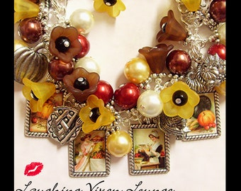 Fall Necklace - Autumn Bracelet - Fall Jewelry - Fall Charm Bracelet - To Grandmother's House - Fall Bracelet Autumn Necklace Thanksgiving