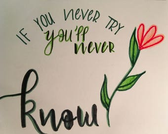 You never try you never Know prin