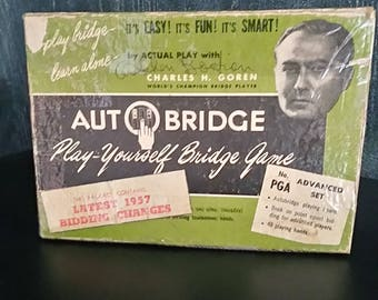 1957 AUTOBRIDGE Play-yourself Bridge Game