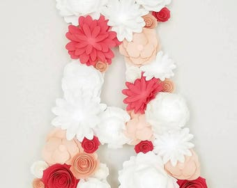 Floral Letters Wall Decor/Nursery Decor