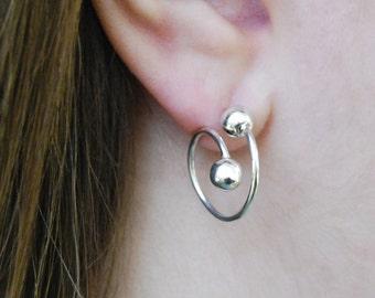 Silver Hoop Earrings, Stud Hoop Earrings, Silver Hoops, Silver Studs, Sterling Silver Earrings, Ball Earrings, Wire Earrings, Otis Jackson