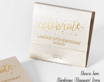 CELEBRATE w/ Polka Dots Matchbooks - Wedding Favors, Wedding Matches, Wedding Decor, Custom Matches, Personalized Matchbooks, Party Favors
