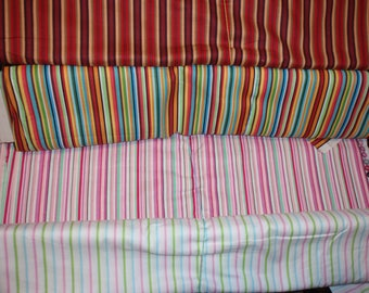 """Quilters Fabric Stripe 100% Cotton 44"""" Wide Sold by the half Yard"""
