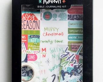 Illustrated Faith Advent Devotional Kit, Bible Journaling, Faith Journaling, December Bible Kit, Stocking Stuffers, Advent Kit