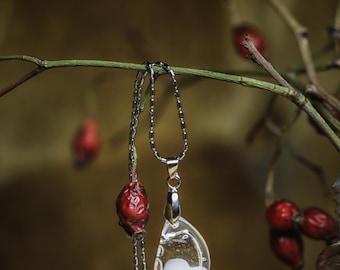 Muttermilchin, Mothermilk necklace, Milkjewelery, silver stainless steel drops jewelry Hypoallergenic Gift