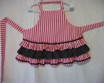 Pink & white stripes - child's apron