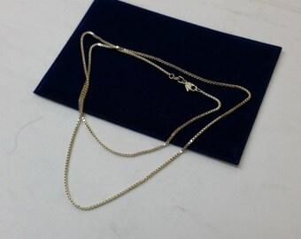 50 cm / 1.3 mm Venetian chains 925 Silver HK228