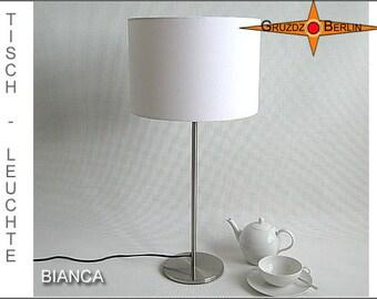White table lamp BIANCA lamp of white linen