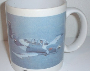 "Beechcraft T-34 Mentor ceramic coffee mug ""Ron Sloan"""