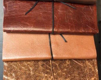 Refillable Leather Wrap Journal (Available to hold Standard or A4 Sized Paper)