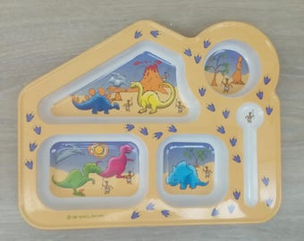 Baby dishes dinausore tray