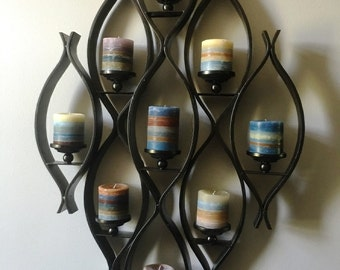 """Set of Nine 4"""" x 4"""" Round Pillar Candles with Custom Color and Scent - Custom Scented Candles"""