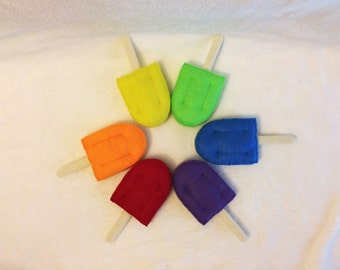 Felt Popsicles, Felt Food, Play Food, Pretend Play, Summer