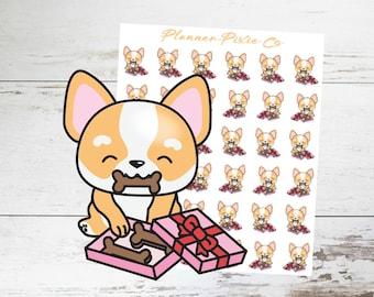 Corgi Planner Stickers // Valentine's Day // 022